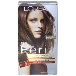 Feria Multi-Faceted Shimmering Color 3X Highlights #50 Medium Brown/ Natural by L'Oreal