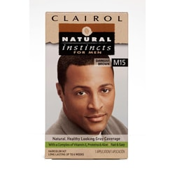 Clairol Natural Instincts For Men #M15 Darkest Brown Hair Color (Pack of 4)