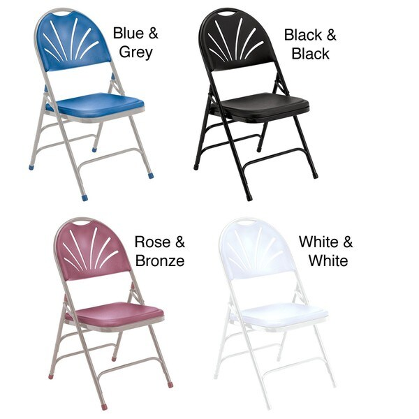 NPS Reinforced Fan-back Polyfold Chairs (Pack of 12)