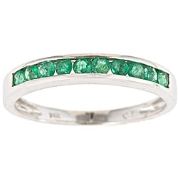 D'Yach 14k White Gold Emerald Classic Ring