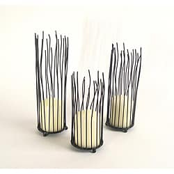Dayna B. Willow Iron Candleholder 3-piece Set