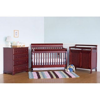 DaVinci Kalani 4-in-1 Crib with Toddler Rail in Cherry