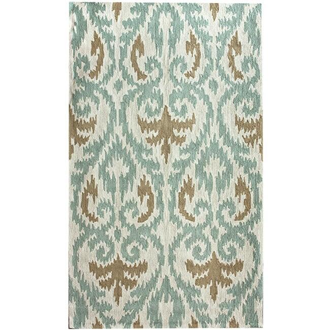 nuLOOM Handmade Modern Ikat Rug (7'6 x 9'6)