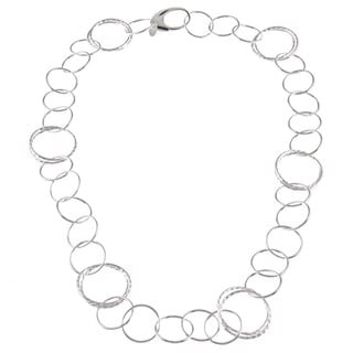La Preciosa Sterling Silver Circle Link Necklace