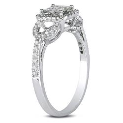 Miadora 10k White Gold 3/8ct TDW Diamond Ring (G-H, I2-I3)