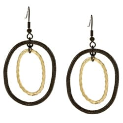 Kate Bissett Goldtone and Hematite Dangle Earrings