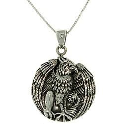 Carolina Glamour Collection Silver Jody Bergsma Gryphon Necklace