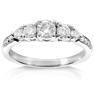 Annello 14k White Gold 3/5ct TDW Diamond Engagement Ring (H-I, I1-I2)