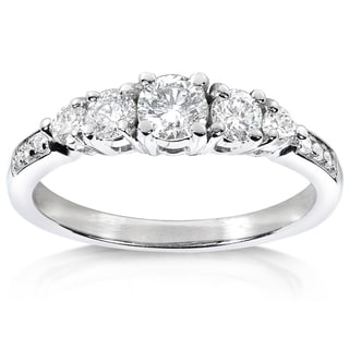 Annello 14k White Gold 3/5ct TDW Diamond Engagement Ring (H-I, I1-I2)