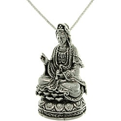 Carolina Glamour Collection Sterling Silver Kwan Yin Necklace