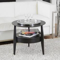 Gretton Black Wood Modern End Table