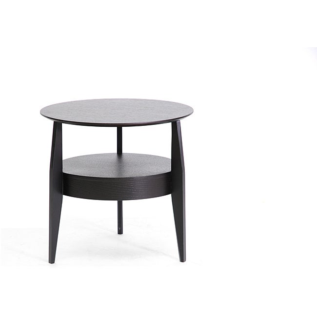Gretton Black Wood Modern End Table