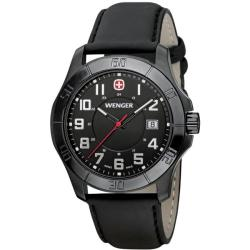 Wenger Men's 'Alpine' Black Stainless Steel Watch