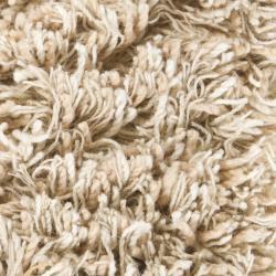 Handwoven 1.5-Inch Mandara New Zealand Wool Shag Rug (7'9 x 10'6)