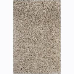 Handwoven 1.5-Inch Mandara New Zealand Wool Shag Rug (7'9 x 10'6)