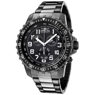 Invicta Men's 'Invicta II' Chronograph Gunmetal Ion Plated SS Watch