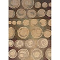 Messina Beige/Brown Transitional Area Rug (3'10 x 5'5)