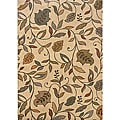Messina Ivory/Brown Transitional Area Rug (3'10 x 5'5)
