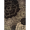 Messina Grey/Black Transitional Area Rug (5'3 x 7'6)