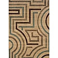 Messina Beige/Tan Contemporary Area Rug (5'3 x 7'6)