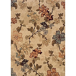 Messina Beige/Green Transitional Area Rug (5'3 x 7'6)