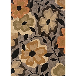 Messina Grey/Gold Transitional Area Rug (5'3 x 7'6)
