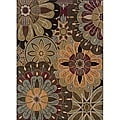 Messina Black/ Brown Area Rug (5'3 x 7'6)