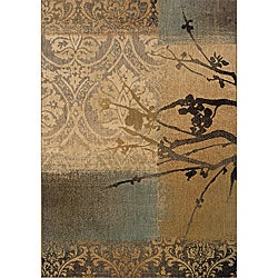 Messina Gold/Grey Area Rug (5'3 x 7'6)