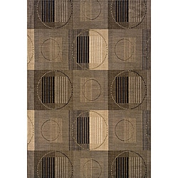 Messina Grey/Black Area Rug (5'3 x 7'6)
