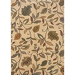 Messina Ivory/Brown Area Rug (5'3 x 7'6)