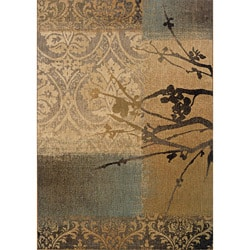 Messina Gold/ Grey Transitional Area Rug (6'7 x 9'6)