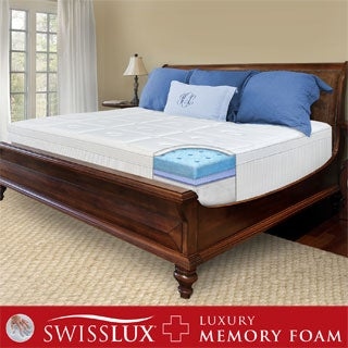 SwissLux 12-inch European Pillow Top King-size Memory Foam Mattress