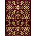 Berkley Red/ Beige Transitional Area Rug (6'7 x 9'6)