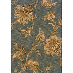 Berkley Blue/ Beige Transitional Area Rug (6'7 x 9'6)