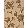 Berkley Beige/ Green Transitional Area Rug (6'7 x 9'6)