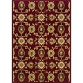 Berkley Red/ Beige Transitional Area Rug (5'3 x 7'6)