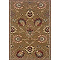 Berkley Tan/ Red Transitional Area Rug (5'3 x 7'6)