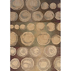 Messina Beige/ Brown Transitional Area Rug (7'8 x 10'10)