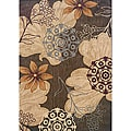 Messina Brown/ Beige Transitional Area Rug (7'8 x 10'10)