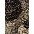 Messina Grey/ Black Transitional Area Rug (7'8 x 10'10)