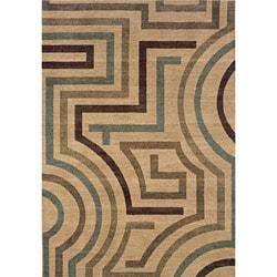 Messina Beige/ Tan Contemporary Area Rug (7'8 x 10'10)