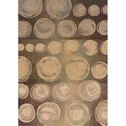Messina Beige/ Brown Transitional Area Rug (6'7 x 9'6)