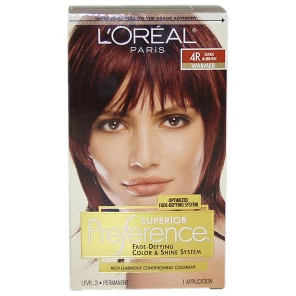 L Oreal Superior Preference Dark Auburn 4r Hair Color