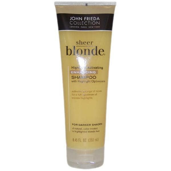 John Frieda 8.45-ounce Sheer Blonde Highlight Activating Enhancing Shampoo For Darker Shades