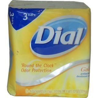 Dial Gold Antibacterial Deodorant 4-ounce Soaps (Pack of 3)