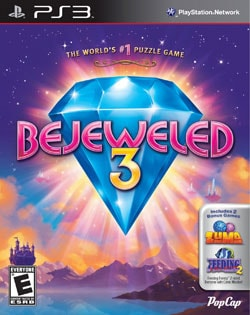 PS3 - Bejeweled 3 With Zuma & Feeding Frenzy 2