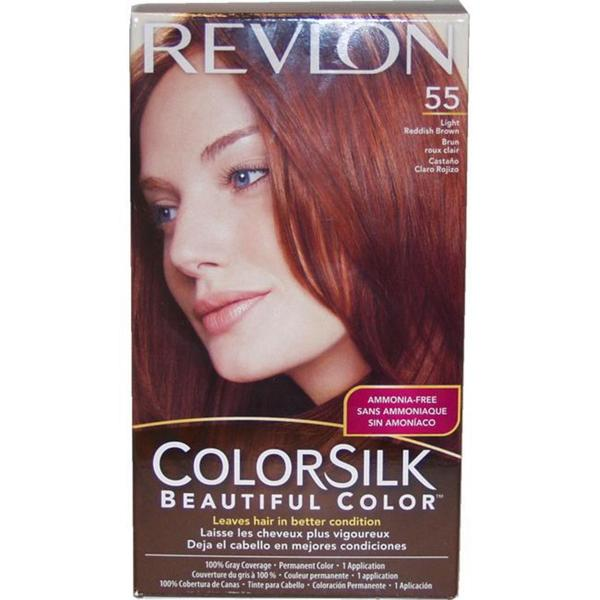 ColorSilk Beautiful Color #55 Light Reddish Brown by Revlon Hair Color