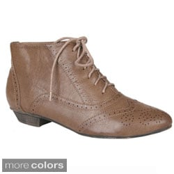 Sweet Beauty Women's 'Robin-02' Oxford Lace-up Ankle Booties
