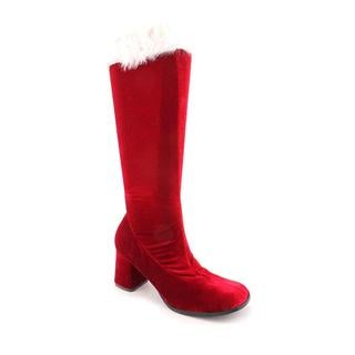 Pleaser Women's Red Velvet Santa Go-Go Boots