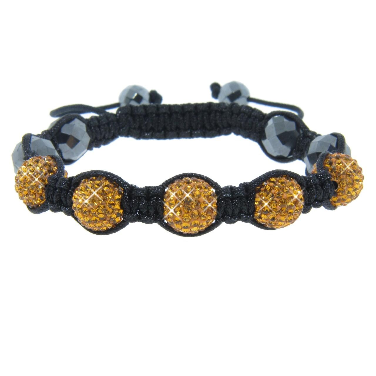 Eternally Haute Orange Crystal and Hematite Bead Macrame Bracelet at Sears.com